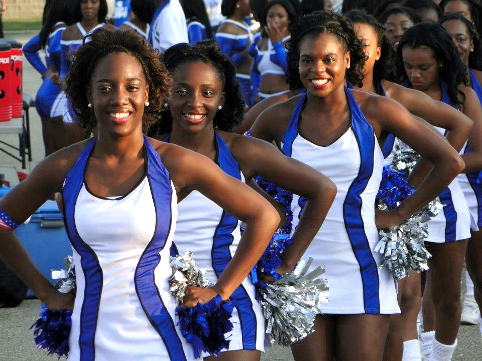 Fayetteville State University Cheer Phi Smoov cheerleaders