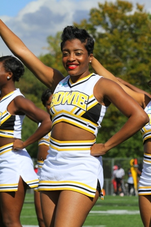 "Bowie State University Cheerleader ""Golden Girls"""