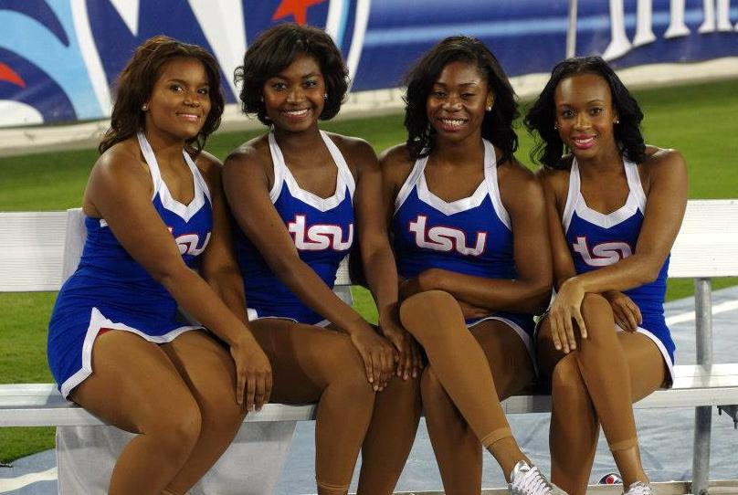 Tennessee State University Cheerleaders at homecoming