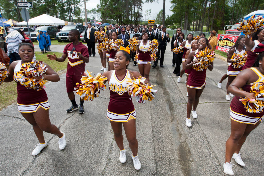 Bethune-Cookman University Wildcats cheerleaders are ready for homecoming