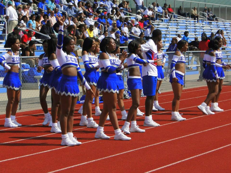 Elizabeth City State University D'LYTE cheerleaders