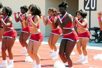 Shaw University cheerleaders
