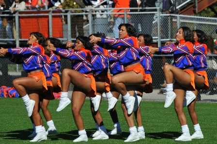 "Virginia State ""Woo Woo"" cheerleaders"