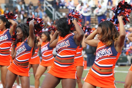 Morgan State cheerleaders