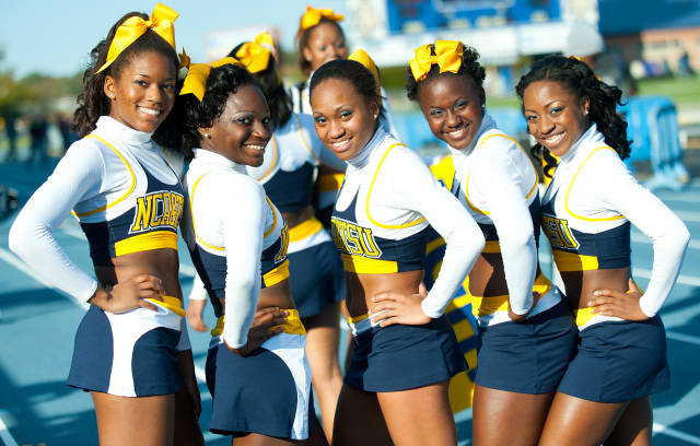 North Carolina A&T Aggies cheerleaders