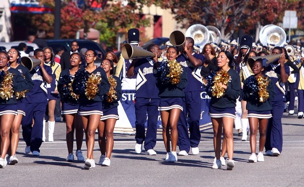 Stillman College cheerleaders enjoying homecoming