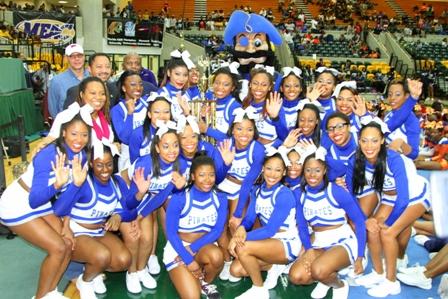 Hampton University cheerleaders take 3rd Place 2013 Cheerleading Championship