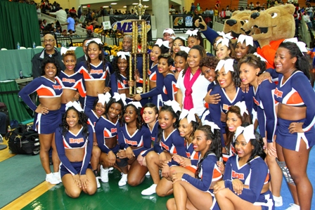 Morgan State University cheerleaders capture the 2013 MEAC Cheerleader Championship