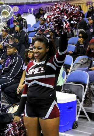 University of Maryland Eastern Shore cheerleaders are ready for the game