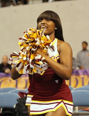 Bethune-Cookman University cheerleader