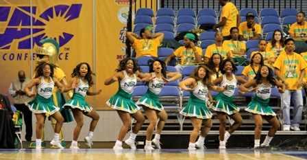 "Norfolk State cheerleaders ""Let's Go SPARTANS"""