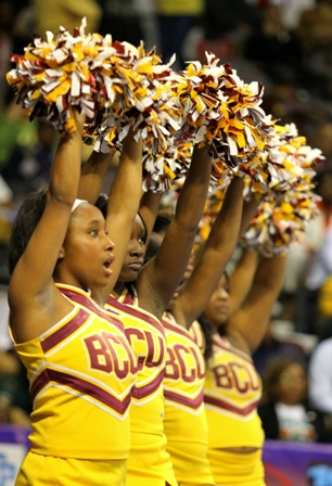 "Bethune-Cookman University cheerleaders ""Let's Go WILDCATS"""