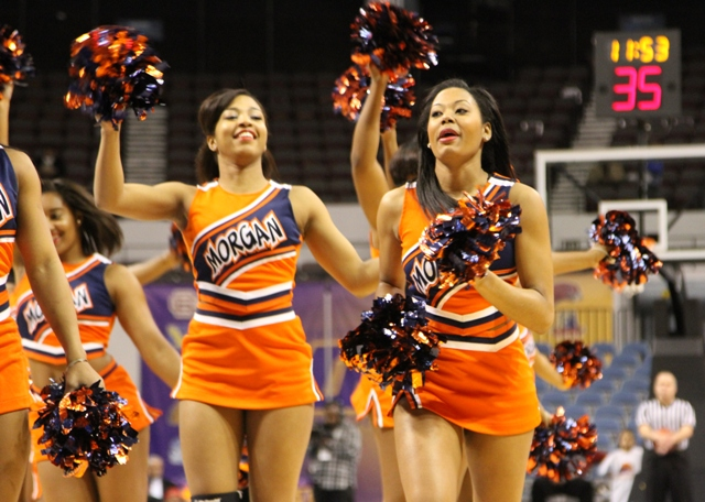 Morgan State cheerleaders enjoying the 2013 MEAC ...