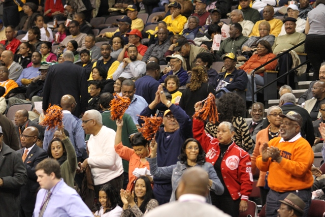 MEAC fans at the 2013 Basketball Tournament in No...