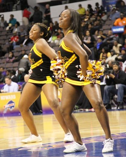 Bethune-Cookman cheerleaders move to the beat