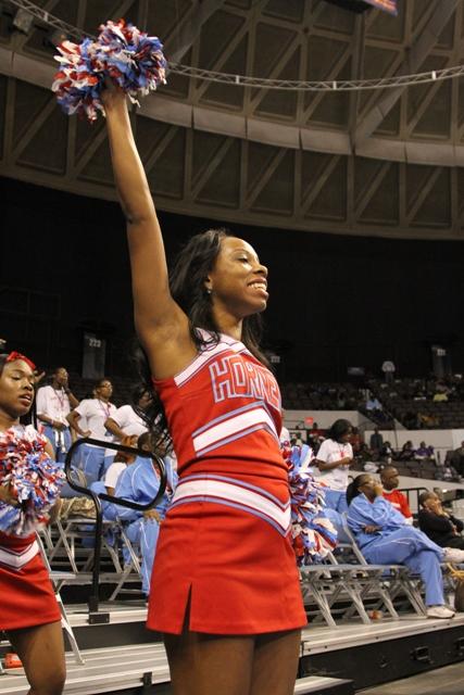 Delaware State University cheerleaders