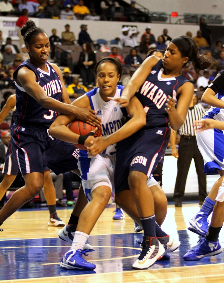 Hampton University Lady Pirates get by Lady Bison...