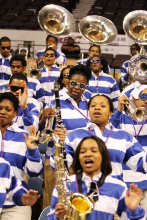 Hampton University pep band at the 2013 Women&#03...