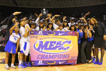 Hampton University Lady Pirates are the 2013 MEAC...