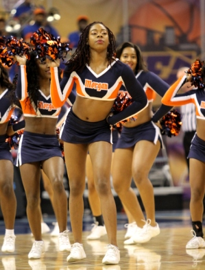 Morgan State cheerleaders at the MEAC 2013 Men&#0...