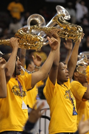 North Carolina A&T Aggie pep band can feel a cham...