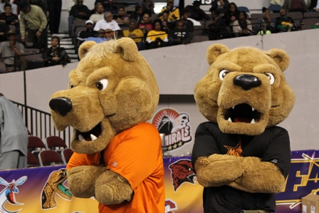 Morgan State Bears mascots at the MEAC 2013 Men&#...