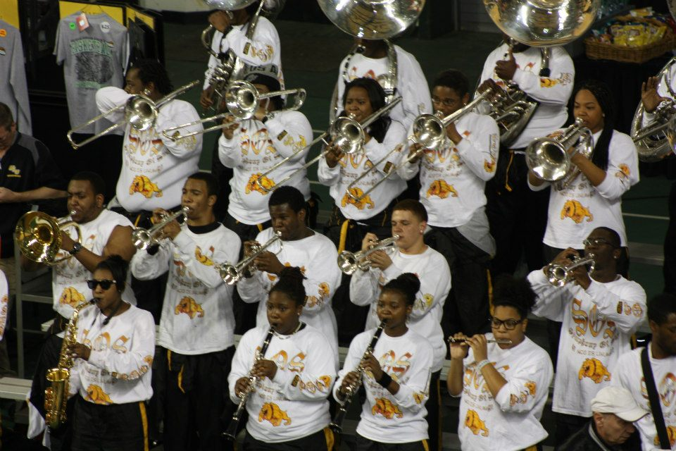 Bowie State pep band at the Quarterfinals NCAA Di...