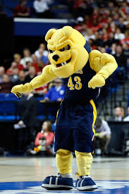 North Carolina A&T Aggie mascot having fun at the...