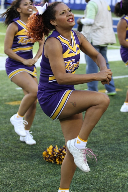 Benedict College Tiger cheerleaders at the 41st NYUL Football Classic