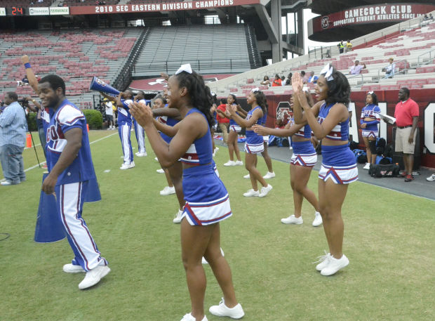 South Carolina State cheerleaders at the Palmetto Capital City Classic