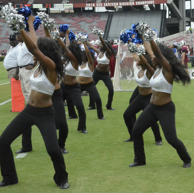 South Carolina State cheer the Bulldogs to victory