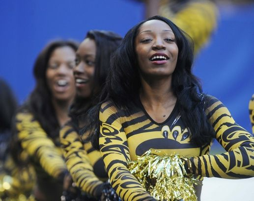 Grambling State University cheerleaders at the Circle City Classic