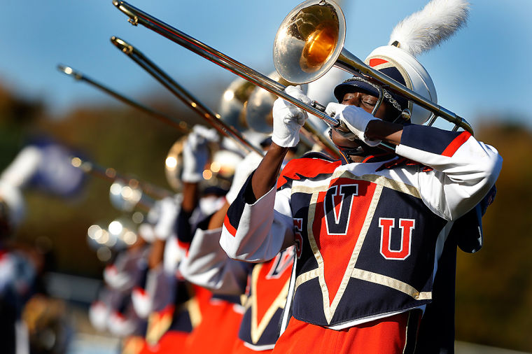 Virginia Stat Trojan Explosion marching band