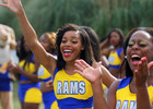 "Albany State Rams cheerleaders ""Let's G..."