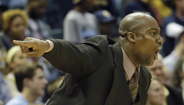 Southern University head coach Roman Banks yells ...