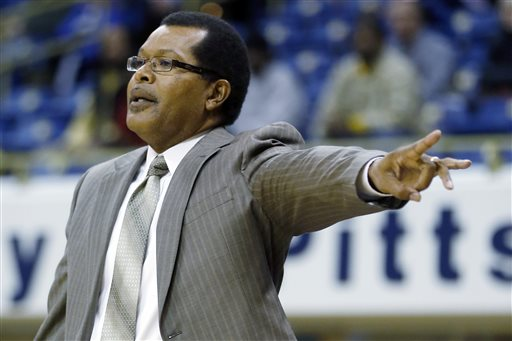 Savannah State head coach Horace Broadnax gives s...