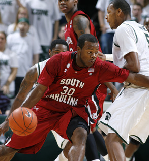 South Carolina State drive againt Michigan State ...