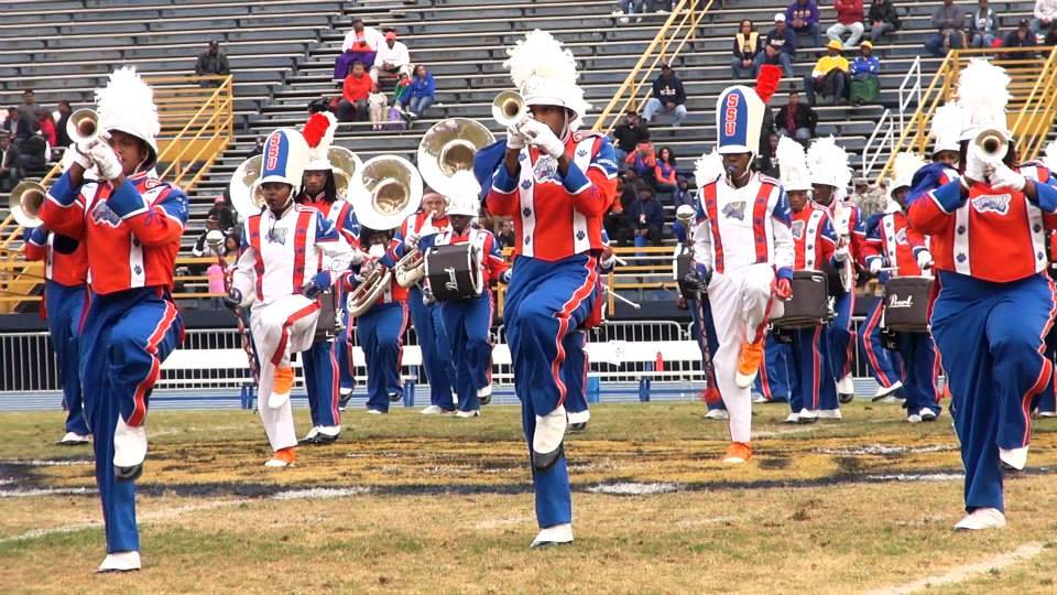 Savannah State University marching band performs ...