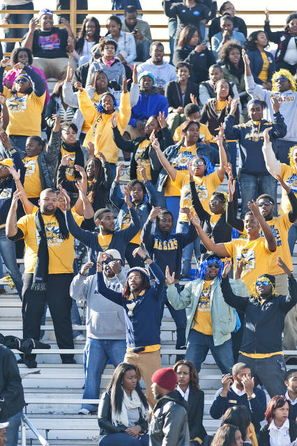 North Carolina A&T fans enjoy the last football g...
