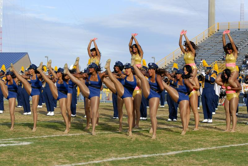 North Carolina A&T Golden Delight dancers