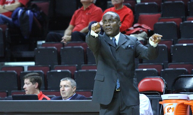 Stillman coach directs his team against Rutgers