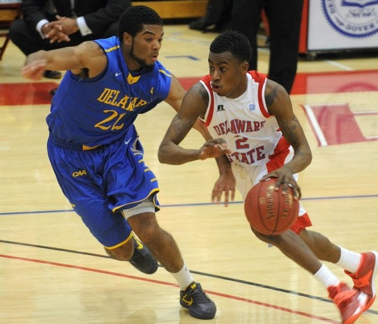 Delaware State pointguard drives past University ...