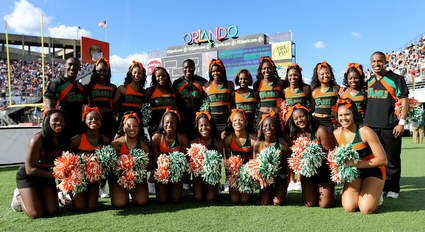 Florida A&M University cheerleaders squad