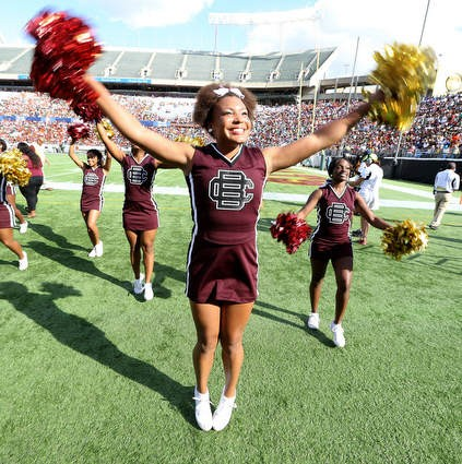 Bethune-Cookman Wildcat cheerleaders