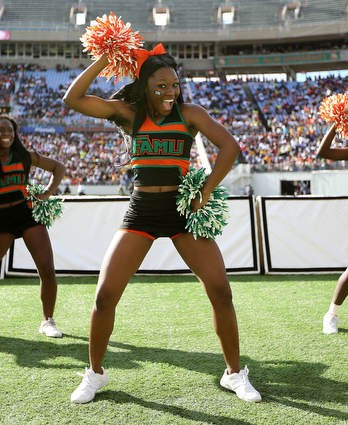 Florida A&M cheerleaders at the Florida Classic