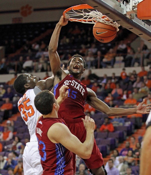 South Carolina State dunks past Clemson's in...