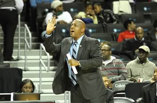 Virginia State University basketball coach at the...