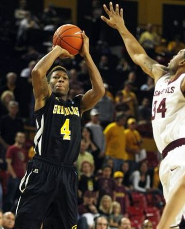 Grambling State Tigers guard shoots over Arizona ...