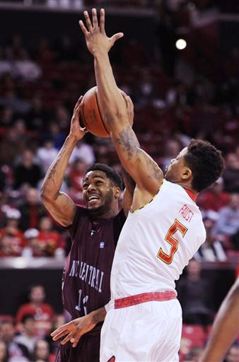 North Carolina Central shoots over Maryland playe...
