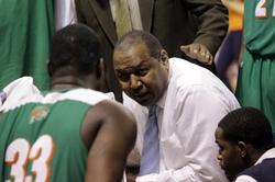 Florida A&M Rattlers head coach Clemon Johnson ta...